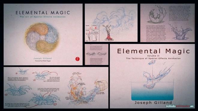 Los 5 mejores Libros para aprender Animación de efectos fx - Comprar Elemental Magic I - Joseph Gilland