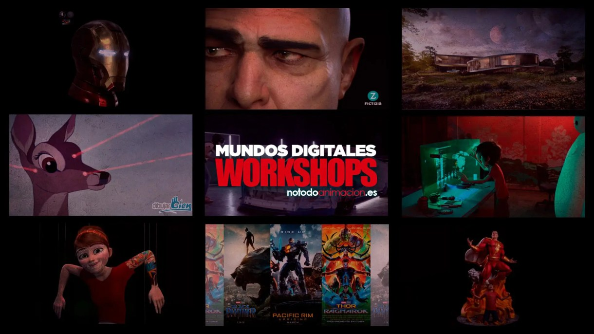 Workshops para Artistas Digitales; animacion 3d animacion 2d arte digital screen graphics motion graphics, rigging, modelado 3d
