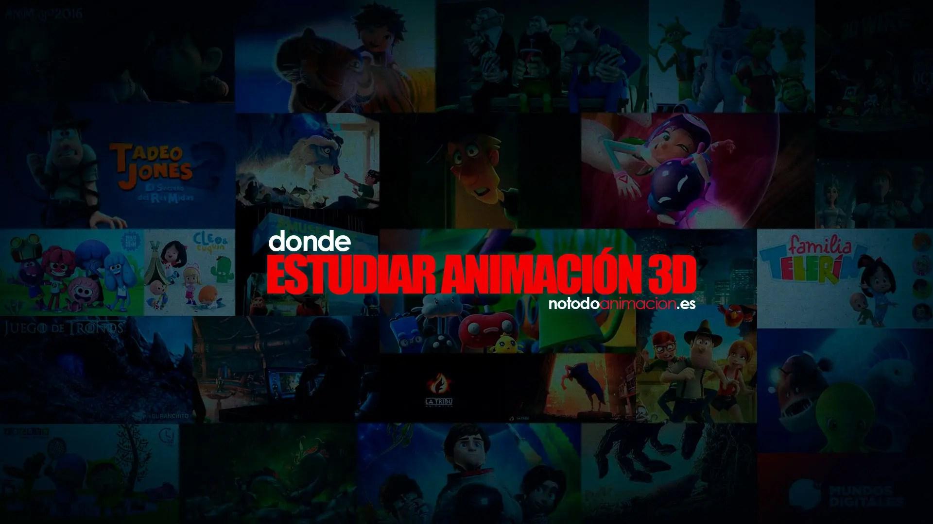 estudiar animacion 3d