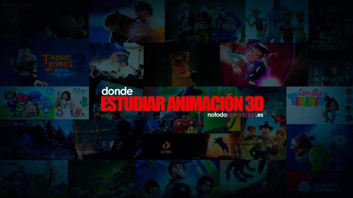 estudiar animación 3d