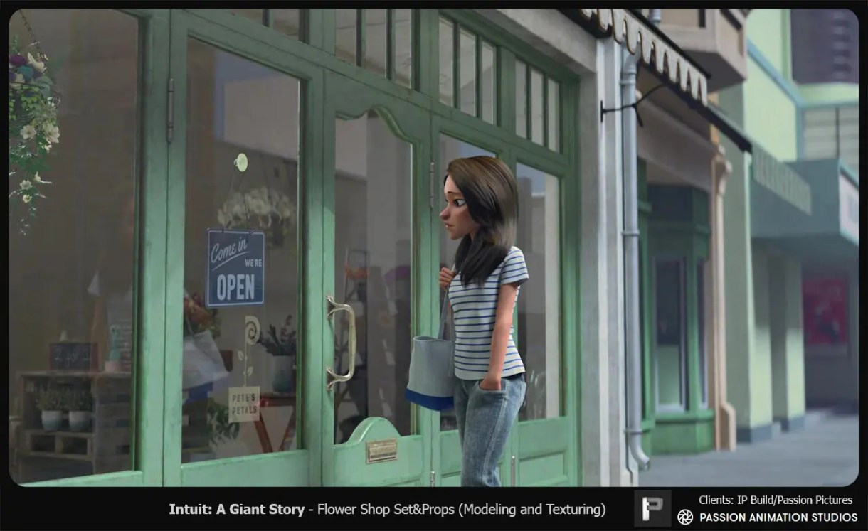 Intuit, A Giant Story-spot de animación3d-cortometraje
