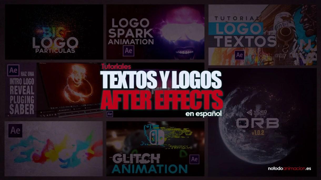 Tutoriales Textos y Logos After Effects en español