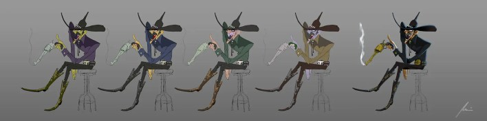 color principios del diseño de personajes