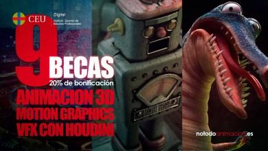 Photo of 9 Becas para Estudiar Cine de Animación, Motion Graphics y VFX ONLINE *AMPLIAMOS al 30 de Septiembre