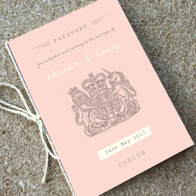 Wedding Invitation Travel Booklet
