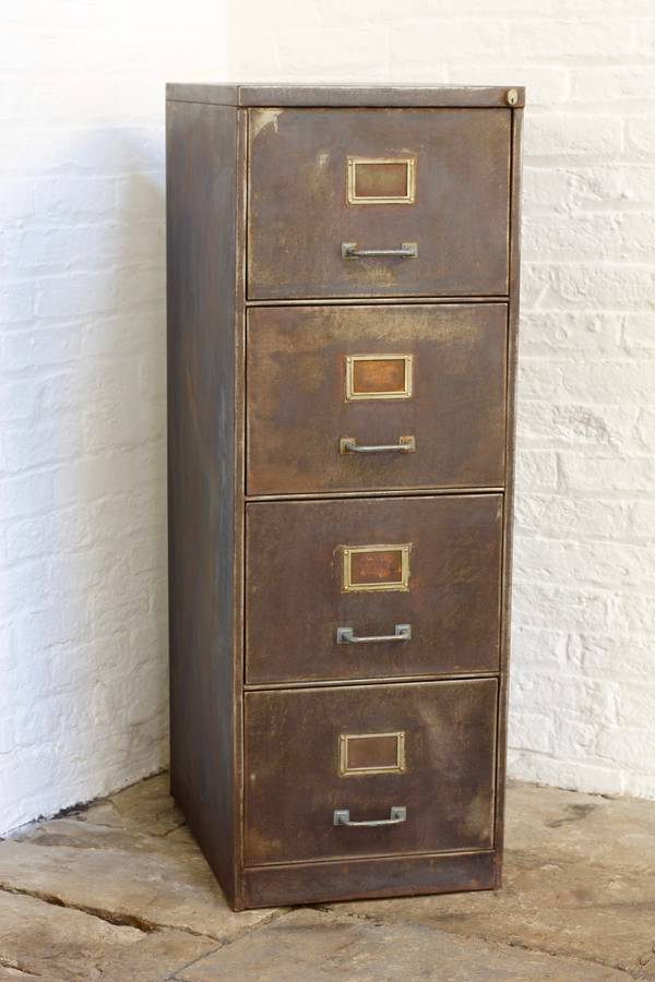 Tannery Vintage Four Drawer Filing Cabinet By Urban Grain