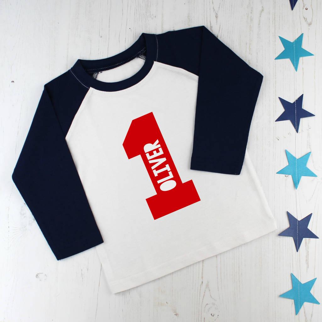 Personalised First Birthday T Shirt By Betty Bramble Notonthehighstreet Com