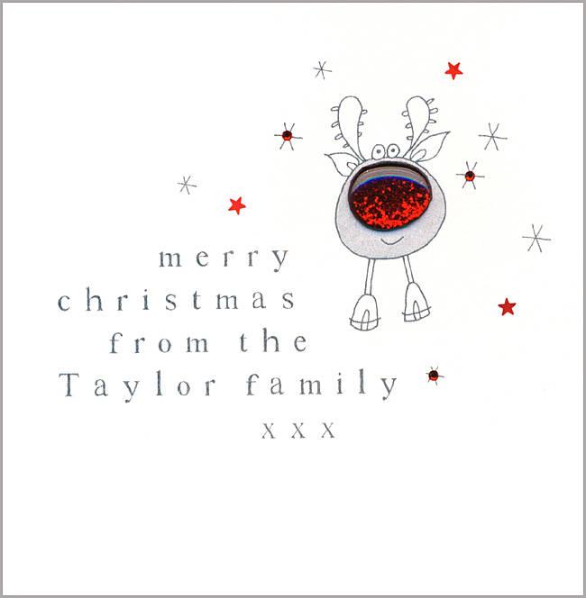 Ten Personalised Handmade Christmas Cards By Eggbert