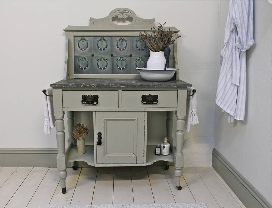 Victorian Pine Painted Wash Stand By Distressed But Not