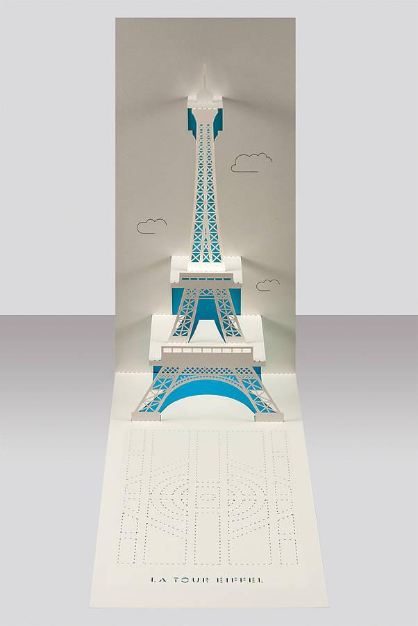 Eiffel Tower Paris Pop Up Card By Paper Tango