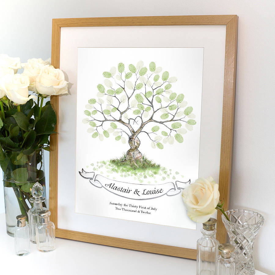 tree guest book frame