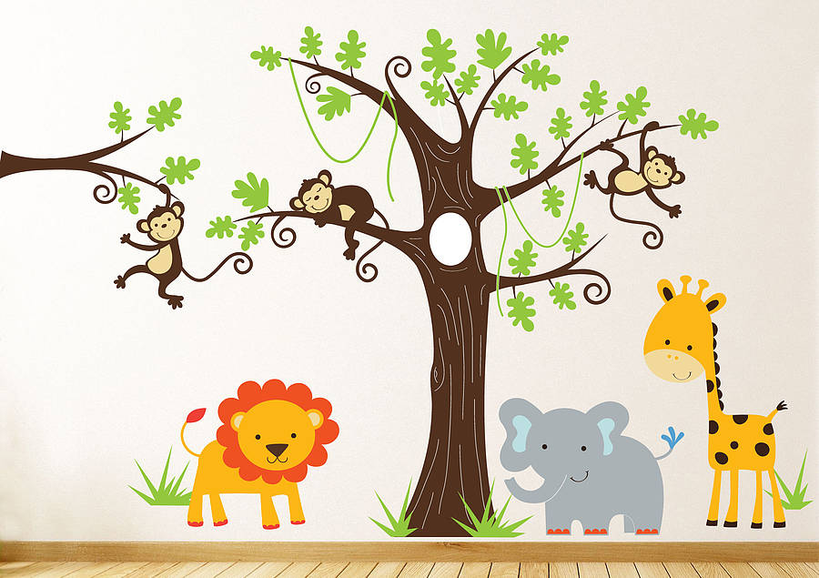 Jungle Wall Stickers Kids Rooms