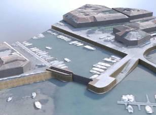 Port de la Flotte : projet porte à flots fermée