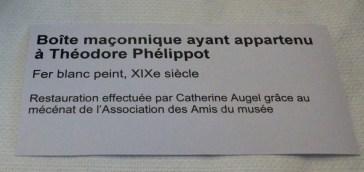 Musée Ernest Cognacq - Boîte maçonnique Théodore Phélippot
