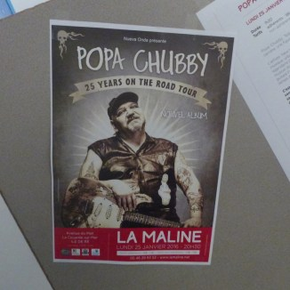 Affiche Popa Chubby - La Maline - 25 février 2016
