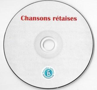 CD chansons rétaises - juillet 2016