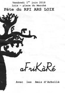 Programme aFriKàRé - 1er juin 2018
