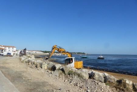 Rivedoux - Déconstruction de l'ancienne protection - 27 septembre 2018