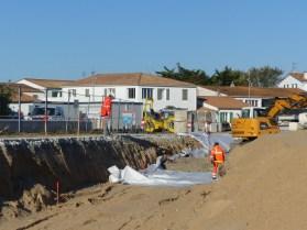 Rivedoux - Digue du bourg - Fondations mur - 4 octobre 2018