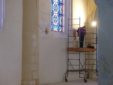 Eglise Ars - Restauration Croix de Consécration - 24 octobre 2018