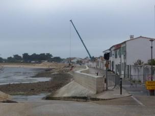 Rivedoux-Plage - Travaux digue - Muret gauche - 25 octobre 2018