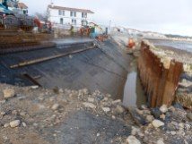 Rivedoux-Plage - Travaux digue - Devant le moulin - 8 novembre 2018