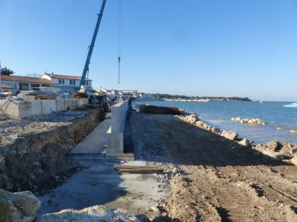 Digue de Rivedoux - Reconstruction - 21 novembre 2018