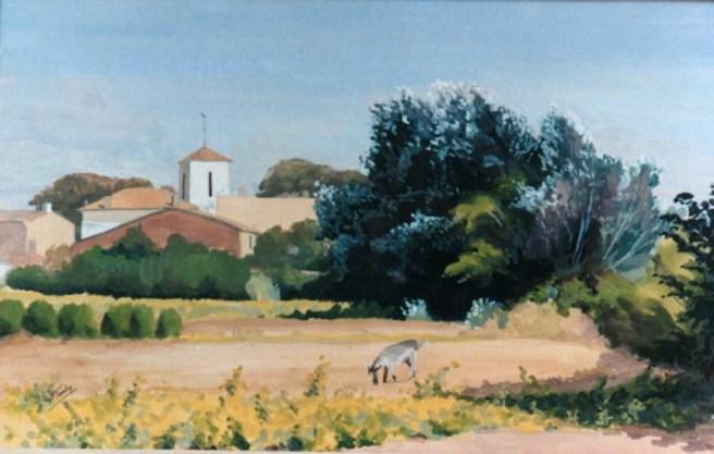 Pierre Tardy - Ane devant église des Portes