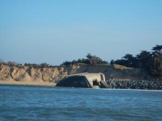St-Clément des Baleines - Pas de Zanuck vu de la mer - 21 mars 2014
