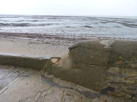 Saint-Clément des Baleines - Bout de digue au pied du phare - 4 janvier 2014