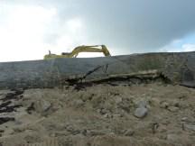 Pointe gauche de la digue du Boutillon - 13 janvier 2014