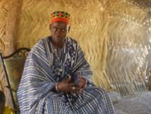 Sa majesté Naba-Koom, chef coutumier du village de Arbollé.