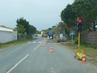 Les Portes, travaux de canalisation à la Redoute.