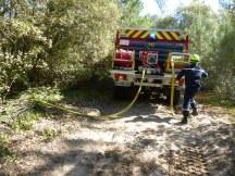Manoeuvre pompiers au Lizay