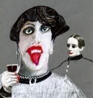 Francis Dumoulin - Femme avec verre