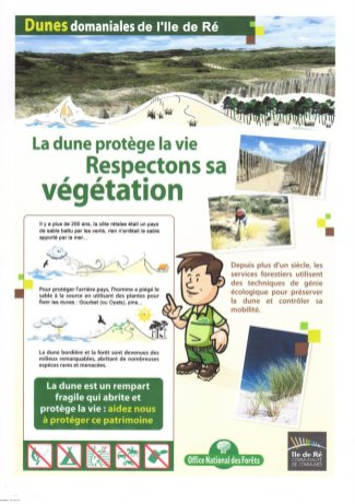 Affiche protection dunes - ONF