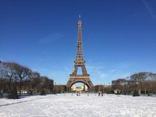 Champs de Mars sous la neige