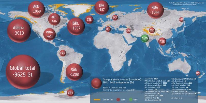 Fonte généralisée des glaciers dans le monde, ceux des Alpes ne ...