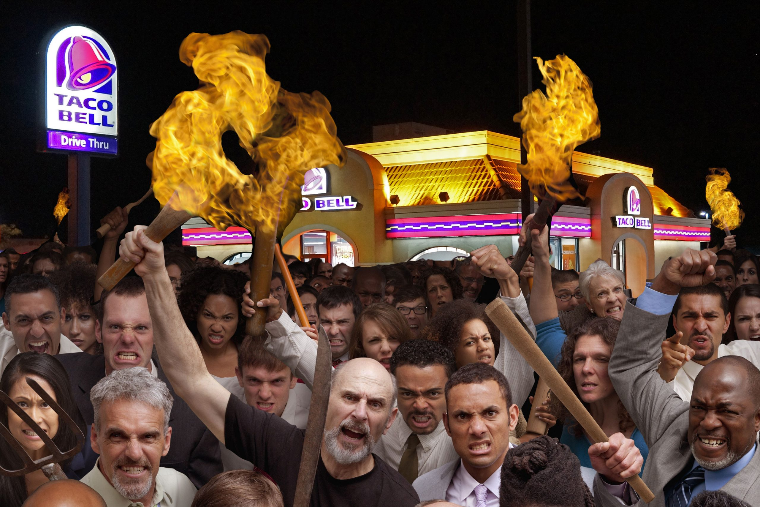 Mob Storms Local Taco Bell Demanding Mexican Pizzas