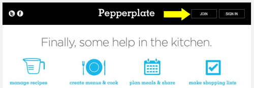 Pepperplate _Home to Join