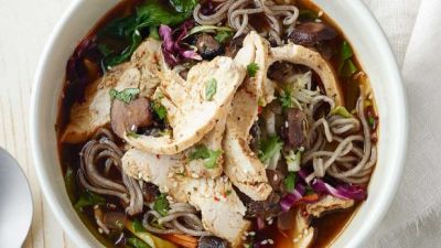 Soba Noodle Bowl with Chicken