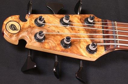 Skjold Damian Erskine Signature Series Bass - head stock