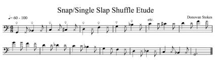 Fig. 4: Snap/Single Slap Shuffle (click to enlarge)