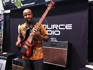 Kevin Walker at the Source Audio booth