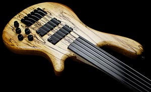 Jc Basses Spalted Maple Fretless