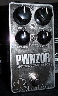 3Leaf Audio Releases PWNZOR Optical Compressor Pedal