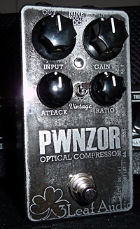 3Leaf Audio Releases PWNZOR Optical Compressor Pedal