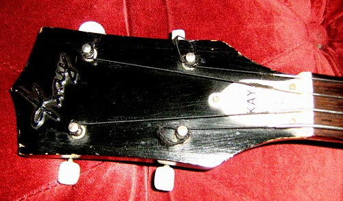 Kay K5915 Electric Bass Body - head stock