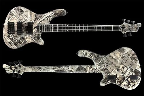 Mayones Elegance 5 Paper Bass Front and Back