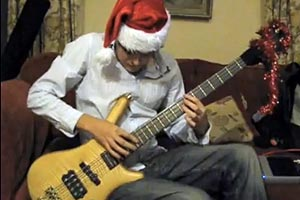 Nick Mason: Jingle Bells Solo Tap Bass